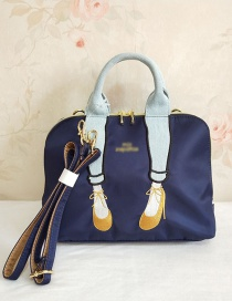 Fashion Navy Embroidered Legs Crossbody Bag