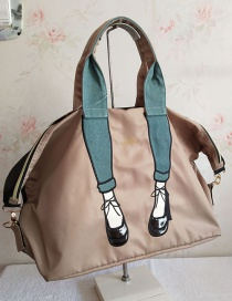 Fashion Creamy-white Beautiful Leg Embroidery Shoulder Bag