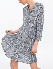 Fashion Snake Snake Print Dress