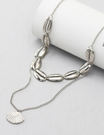 Fashion Silver Multi-layer Shell Necklace