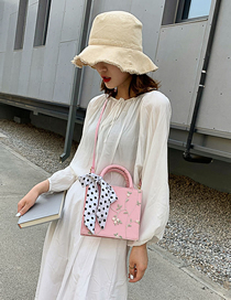 Fashion Pink Silk Scarf: Lace: Shoulder Diagonal Package