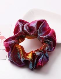 Fashion Rose Red Gradient Metal Rainbow Bronzing Double Color Hair Ring