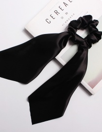 Fashion Black Satin Long Ribbon With Large Intestine Circle Flower