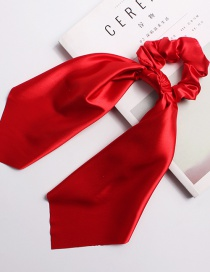 Fashion Big Red Satin Long Ribbon With Large Intestine Circle Flower