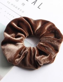 Fashion Large Flannel Ring - Brown Fleece Hair Ring