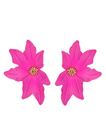 Fashion Rose Red Flower Earrings