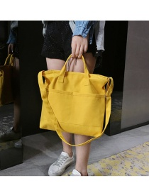 Fashion Yellow Shoulder Diagonal Shoulder Bag
