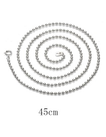 Fashion Silver 925 Silver Short Bead Chain Necklace