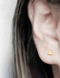 Fashion Gold Triangle Stainless Steel Gold-plated Earrings