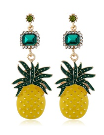 Fashion Yellow Fruit Pineapple Earrings