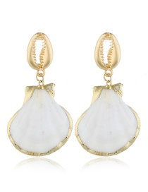 Fashion Gold Shell Conch Earrings