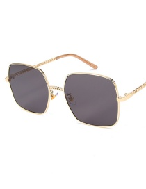 Fashion Gold Frame Gray Piece C1 Too Glasses