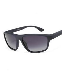 Fashion Blue Frame Double Gray C5 Driving Polarized Sunglasses