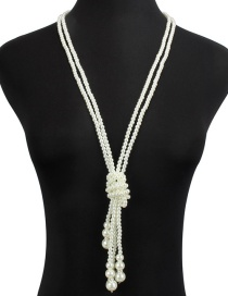 Fashion 107202 Multi-layer Pearl Necklace