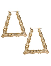 Fashion Gold Geometric Bamboo Alloy Gold-plated Earrings