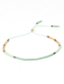 Fashion Bean Green Rice Beads Small Bracelet