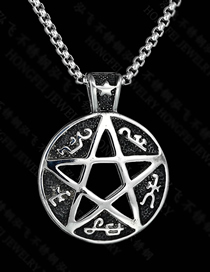 Fashion Steel Color Casting Stencil Hollow Six-pointed Star Necklace