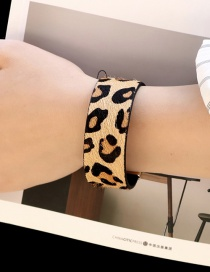 Fashion Big Leopard Magnet Buckle Horse Hair Bracelet
