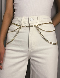 Fashion Gold Tassel Chain Waist Chain