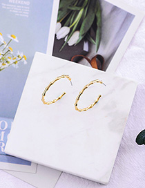Fashion Gold C-shaped Bamboo Alloy Earrings
