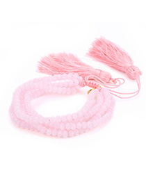 Fashion Pink Rice Beads Woven Bracelet
