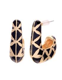 Fashion Black Heart Shape Earrings