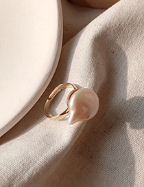 Fashion Gold Natural Pearl Rolling Cloud Ring In 14k Yellow Gold