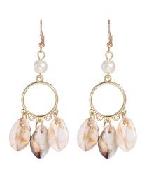 Fashion Gold Shell Conch Earrings