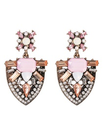 Fashion Color Studded With Earrings