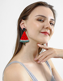 Fashion Red Big Watermelon Earrings