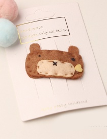 Fashion Brown Bear Children's Cartoon Hair Clip