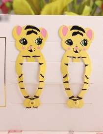 Fashion Yellow Tiger Child Hair Clip