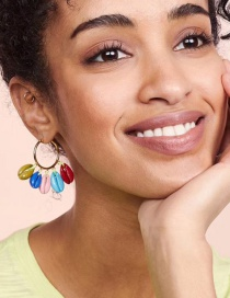 Fashion Color Alloy Shell Earrings