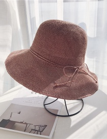 Fashion Leather Red Straw Hat