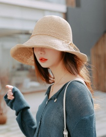 Fashion Khaki Extra-fine Woven Straw Hat