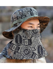 Fashion Geometric Patterns Windproof Rope Fisherman Hat