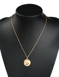 Fashion Gold Alloy Portrait Necklace