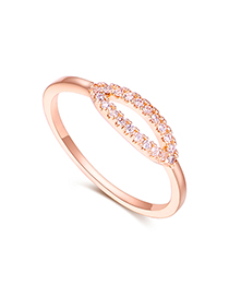 Fashion Rose Gold Plated Gold Smile Ring Often Open Ring