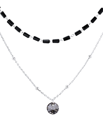 Fashion Platinum + Silver Phantom Crystal Necklace--aristocratic Queen