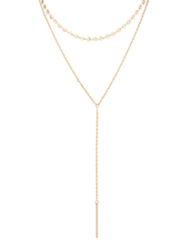 Fashion 14k Gold Plated Gold Necklace - Charm