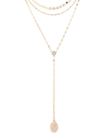 Fashion 14k Gold Zircon Necklace - Shine