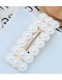 Fashion Gold Imitation Pearl Small Flower Hairpin