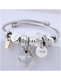 Fashion White Metal Dolphin Bracelet