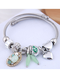 Fashion Green Metal Bracelet