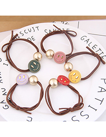 Fashion Random Color Select (1 Price) Smiley Rubber Band