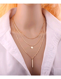 Gold Metal Multilayer Chain Necklace