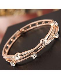 Fashion Gold Flash Drill Bracelet