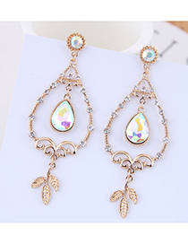 Fashion Gold Hollow Drop Earrings