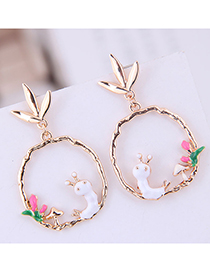 Fashion White Simple Insect Earring