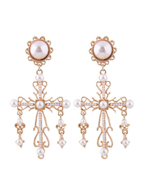 Fashion Gold Cross Earrings